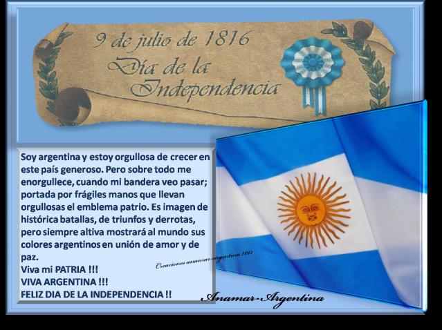 Imagen 9 DE JULIO -DIA DE LA INDEPENDENCIA ARGENTINA -anamar argentina