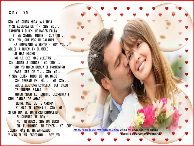 Imagen poema de amor -yo soy - creaciones anamar argentina -2015