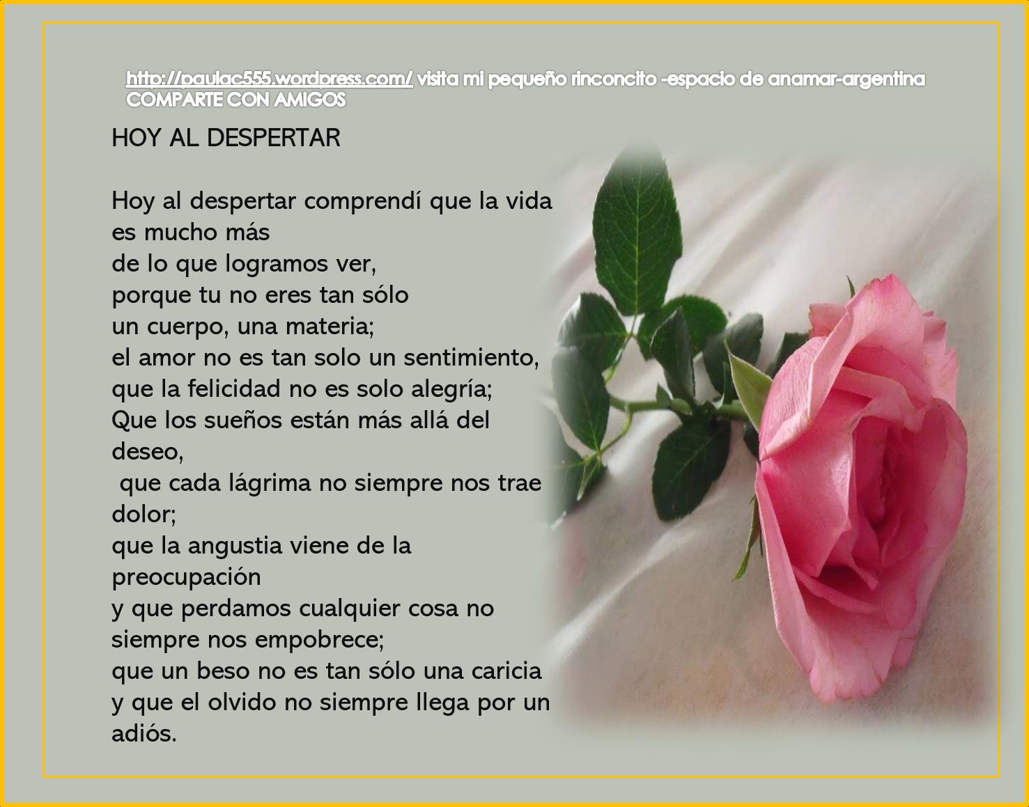 Hola Mis Amigos Frases Para Compartir Anamar Argentina